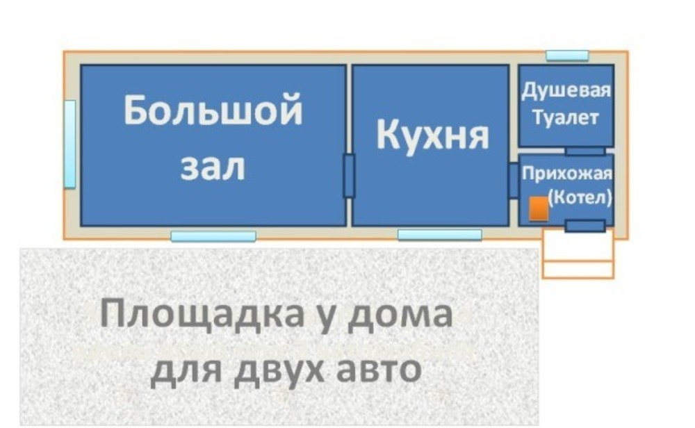 Дача 58 кв.м на участке 6 сот