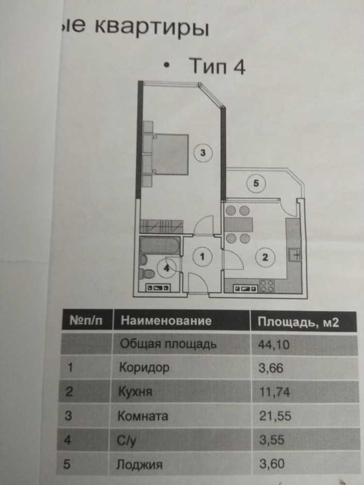 1-к. квартира 44.1 кв.м, 19/20